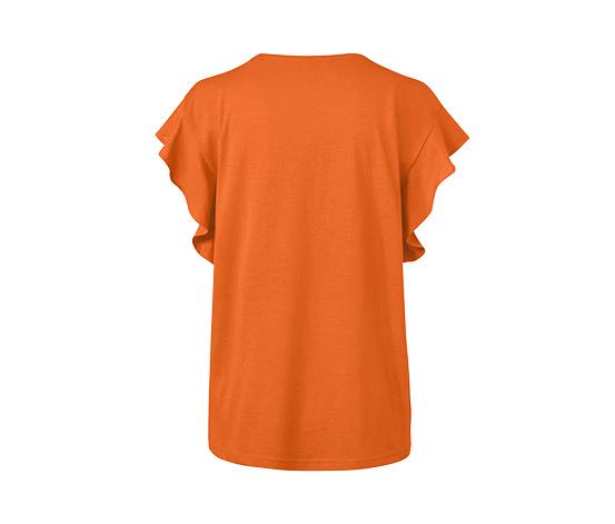 Tričko s volánom, oranžové