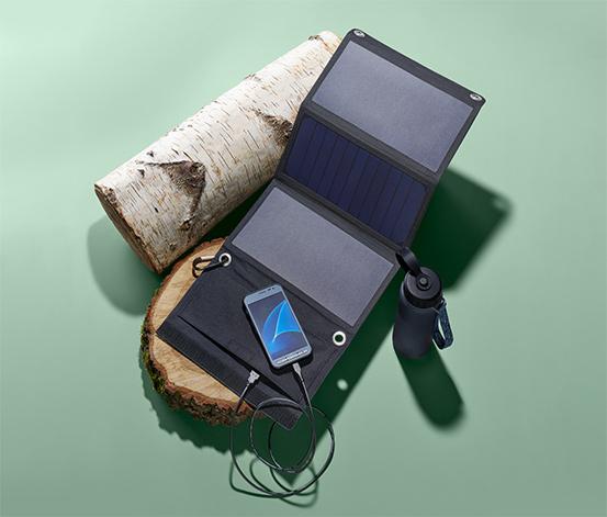 Skladacia solárna nabíjačka