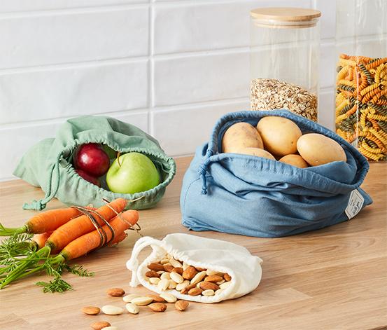 Vrecká na ovocie a zeleninu, 3 ks