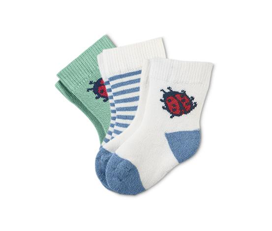 Ponožky z froté pre bábätká, 3 páry