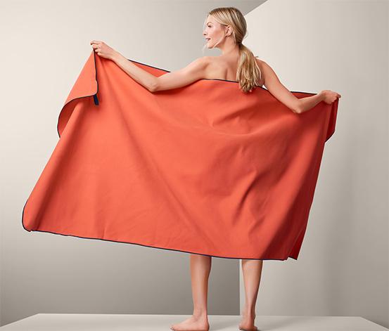 XL outdoorová osuška, oranžová