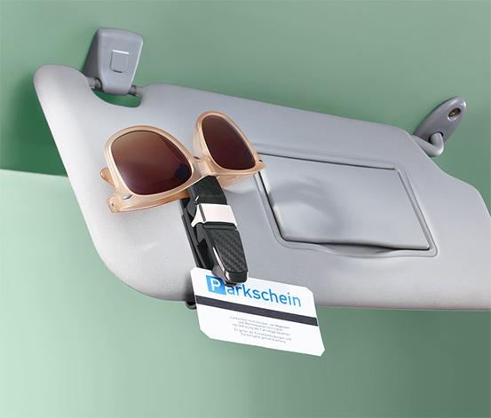 Držiak na okuliare do auta so svorkou