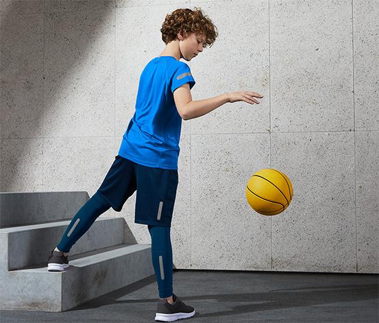 Detské športové legínsy s recyklovaným materiálom