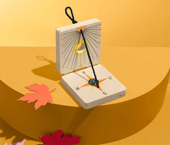 Detské slnečné hodiny s kompasom