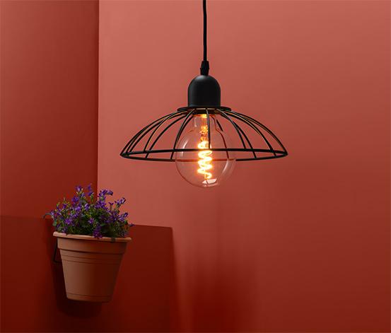 Outdoorové svietidlo s LED žiarovkou s vláknom