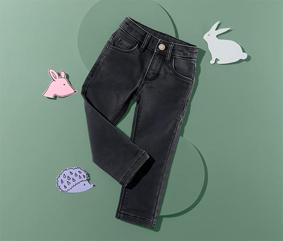 Elastické denimové nohavice