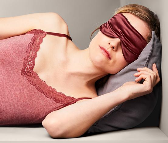 Hodvábna maska na spanie