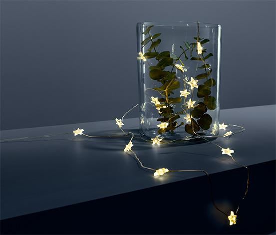 Svetelná reťaz s mikro LED »Hviezdy«