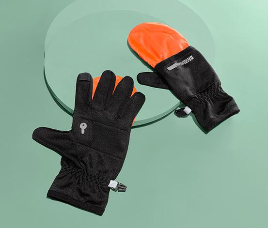Bežecké rukavice 2 v 1