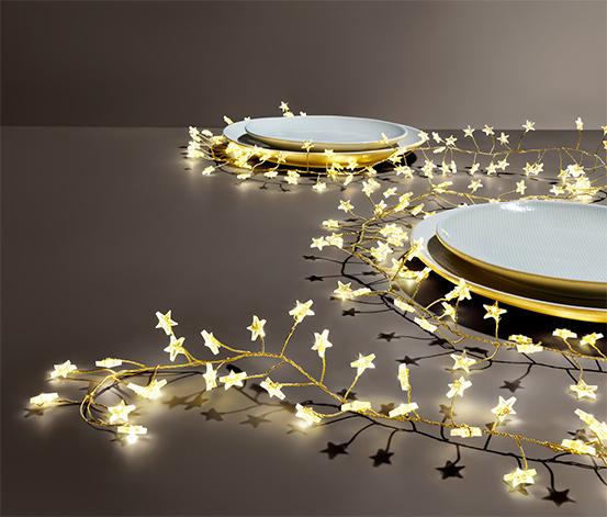 Girlanda s hviezdami s LED