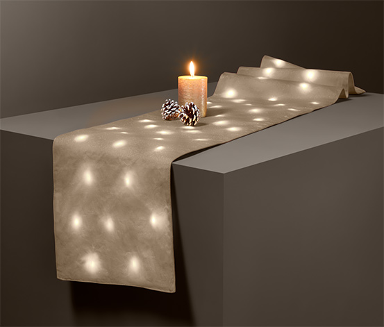 Behúň na stôl s LED