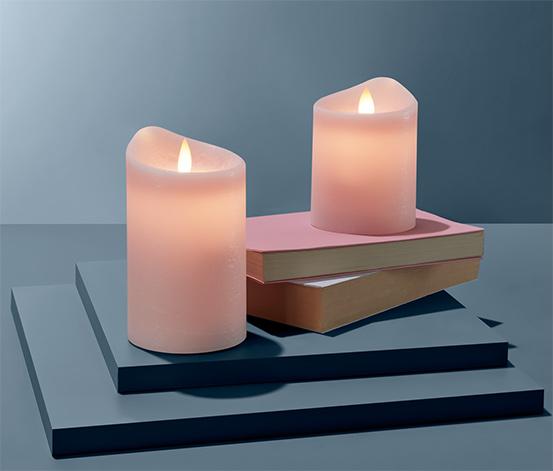 Sviečky z pravého vosku s LED, 2 ks