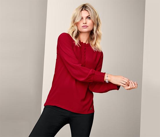 Blúzkové tričko, červené