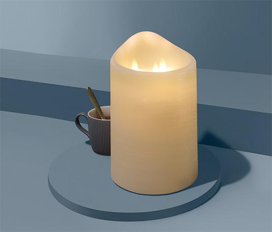Sviečka z pravého vosku s LED