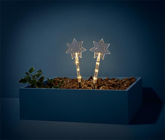 Zapichovacie dekorácie do záhrady s LED, 2 ks