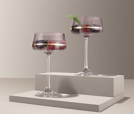 Poháre na šampanské a kokteily