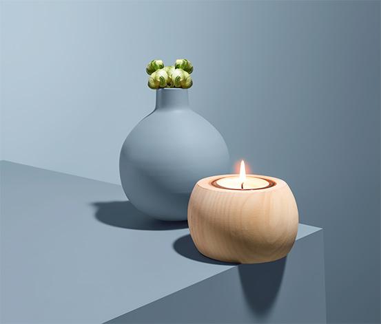 Svietnik na čajové sviečky z borovice limbovej