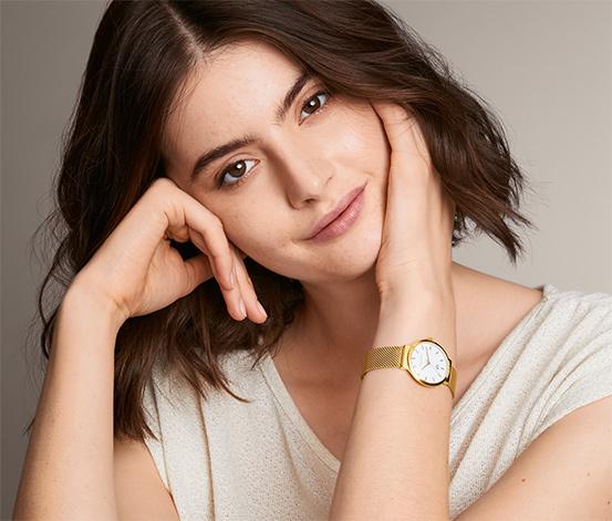 Dámske hodinky s remienkom v milánskom štýle