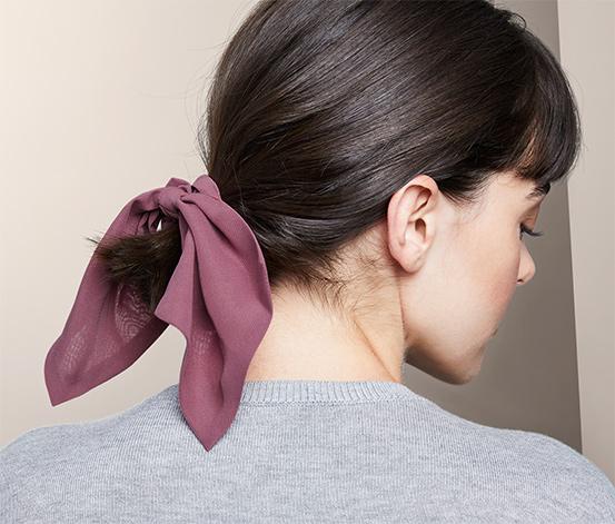 Ozdobné gumičky do vlasov s mašľou, 2 ks