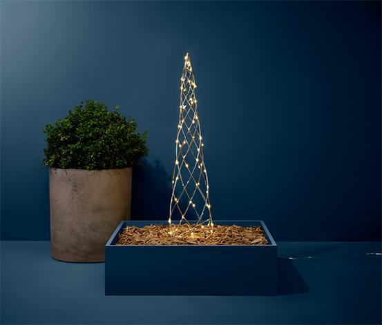Kovový stromček s LED