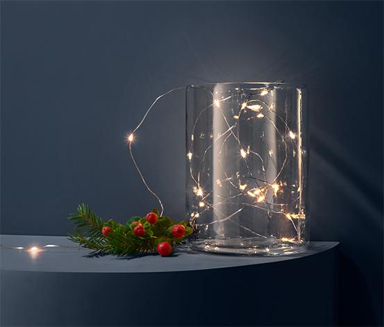 Svetelná reťaz s mikro LED »Kvapky«