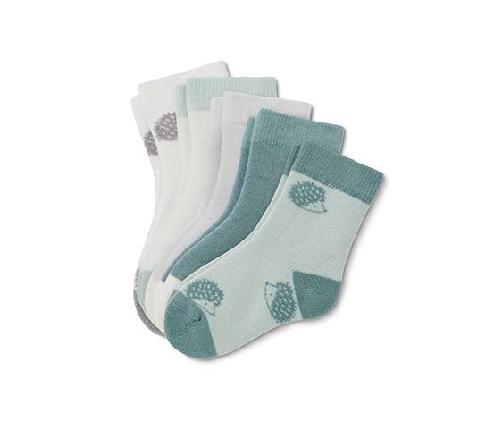 Bavlnené ponožky pre bábätká, 5 párov