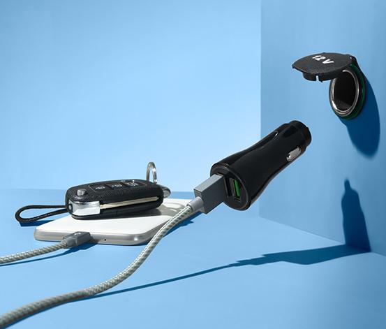 Elektrická zásuvka do auta s USB pripojením