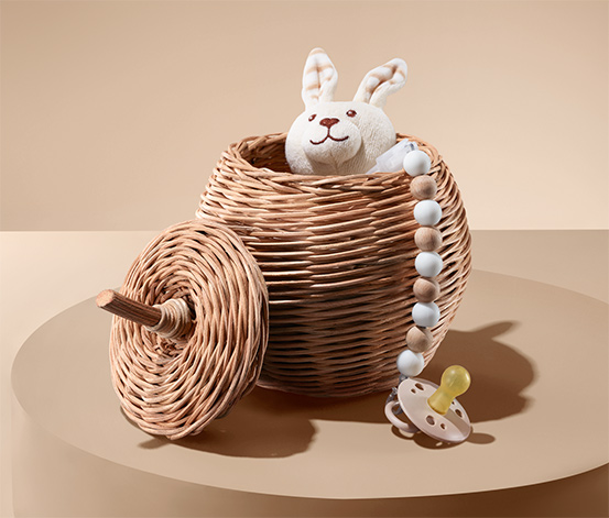 Úložný košík v tvare jablka