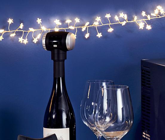 Elektrický vákuový uzáver vínových fliaš
