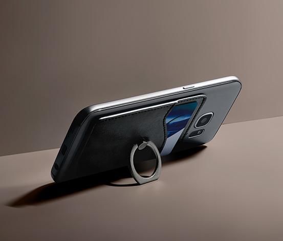 Puzdro na karty a smartfón s krúžkovým držiakom