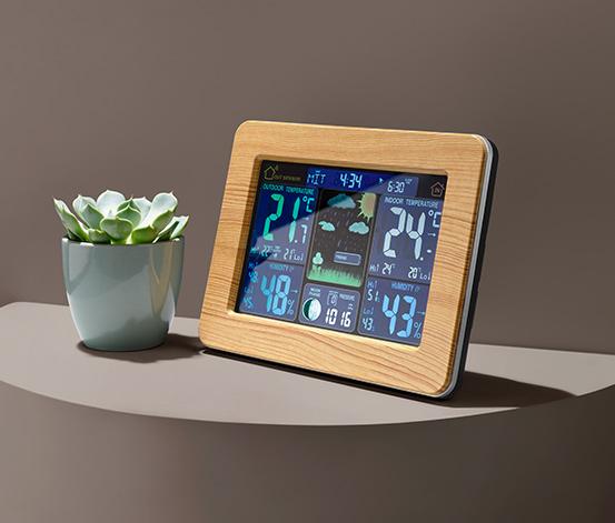 Meteorologická stanica riadená rádiovým signálom s farebným LCD displejom