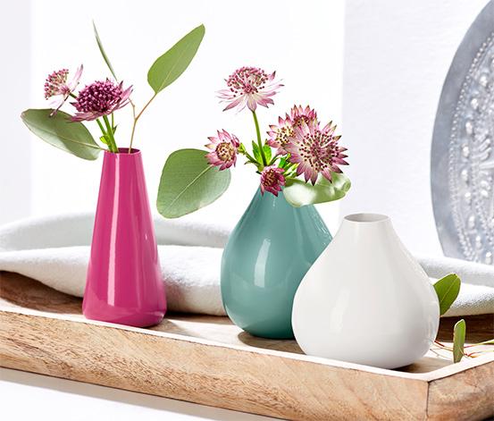 Dekoračné vázy, 3 ks