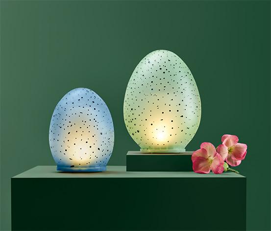 Dekoračné vajíčka s LED, 2 ks