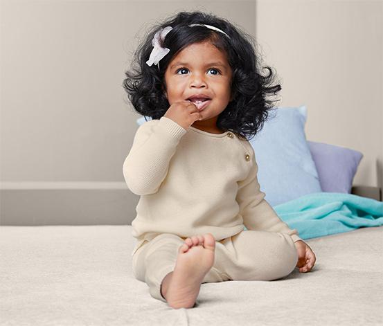 Detská pletená súprava z bavlny