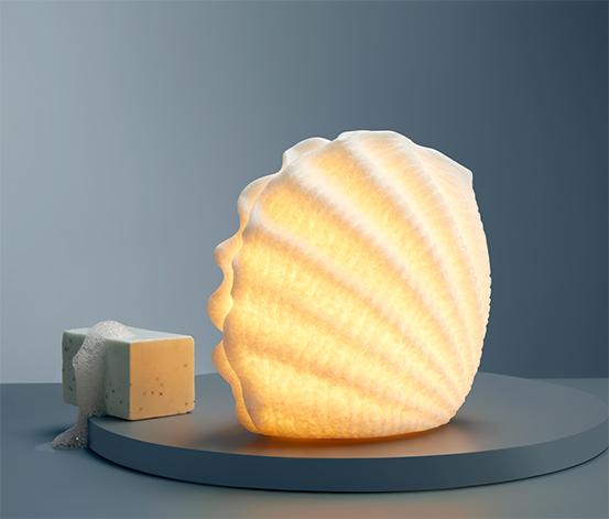 Dekoračná mušľa s LED
