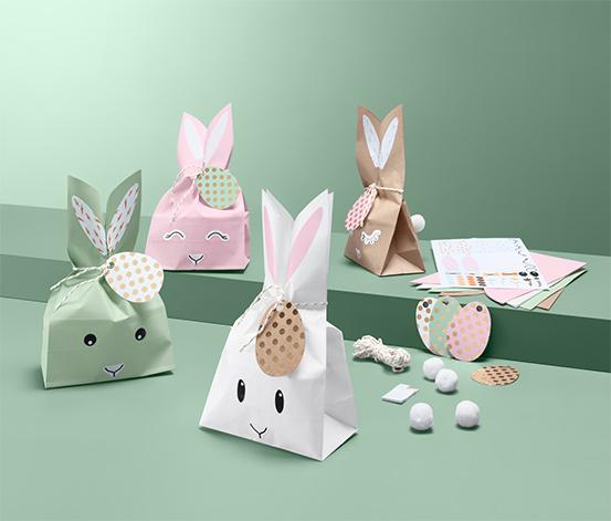 Darčekové vrecúška s motívom veľkonočných zajačikov