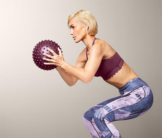 Lopta na cvičenie a masáž
