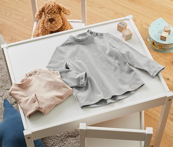 Detské rebrované tričká, 2 ks