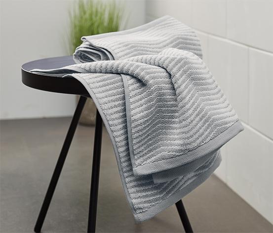 Žakárové uteráky, 2 ks, sivé
