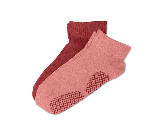 Ponožky na jogu, 2 páry, ružovo-červené