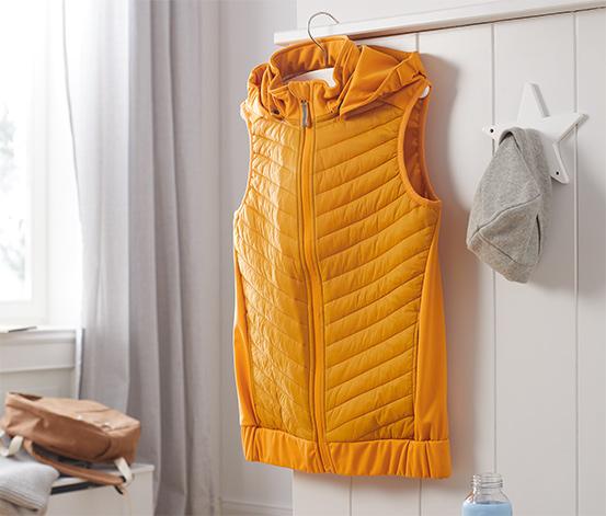 Hybridná softshellová vesta z recyklovaného materiálu