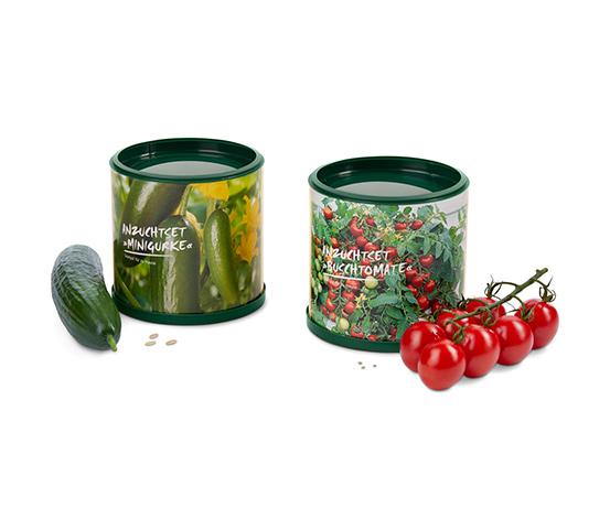 Súprava na pestovanie mini uhorky a kríčkovej paradajky