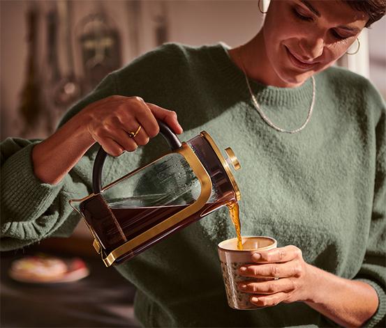 Kanvica french press 800 ml, zlatá