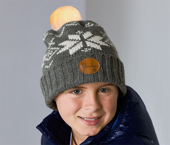 Detská čiapka so svietiacim brmbolcom »Glowbee«
