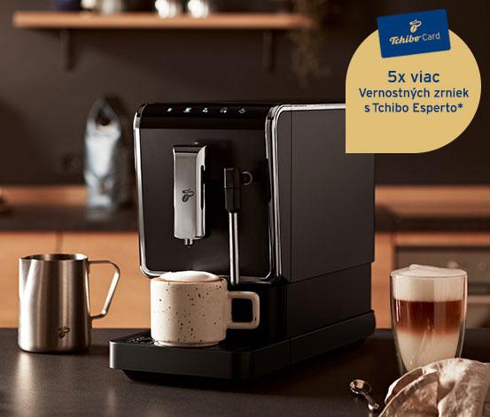 Plnoautomatický kávovar Esperto Latte + 1 kg kávy Barista pre držiteľov TchiboCard*